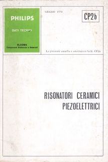 Philips - Risuonatori Ceramici Piezoelettrici 1970